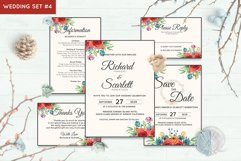 Wedding Invitation Set #4 Watercolor Floral Flower Style Product Image 1