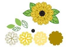 Sunflower Layered SVG - 3 SVG Mandala - Multilayer SVG Product Image 2