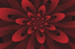 Abstract 3D Digital Modern Red Floral Design Background Product Image 2