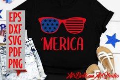 America Svg Merica SVG Merica sunglasses Svg 4th of July Svg Product Image 2