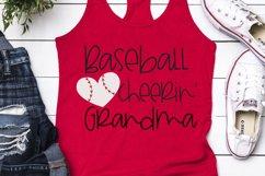 Baseball Heart - Baseball Cheerin' Grandma SVG Product Image 2