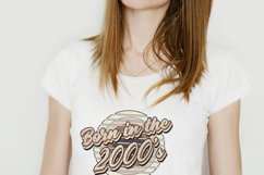 Retro born in the 2000s sublimation png, 2000s T-shirt desig Product Image 3