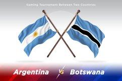 Argentina vs Botswana Two Flags Product Image 1