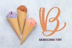 Web Font Monogram Striped Font - A Lovely Monogram Font Product Image 5