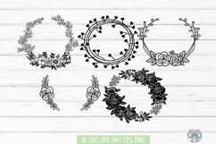 Floral Wreath svg, Bundle 20 DESIGNS, Floral Frame, Cricut Product Image 4