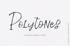 Polytones | A Brush Made Font Product Image 1