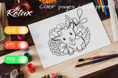 Litte Goat - Cut File and Coloring Page Product Image 4
