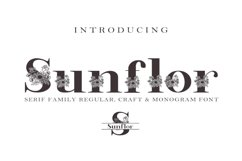 Sunflor-A New Crafter & Monogram Serif Font Product Image 1