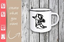Cowgirl Logo with Hat and Boots - SVG - Set Product Image 2