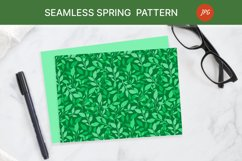 Seamless pattern with green leaves. Spring season Product Image 3