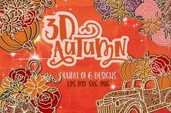3D Fall bundle svg Papercut SVG Autumn Product Image 1
