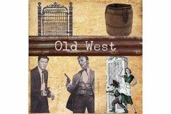 Old West, Vintage Elements, Gate, Bucket, Clip Art, Print Product Image 1