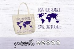 Love Our Planet Save Our Planet SVG Cut File | World Map Product Image 1