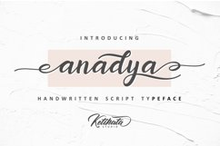 Anadya Handwritten Script Product Image 2