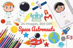 Space Astronauts Clipart, Instant Download Vector Art Product Image 1