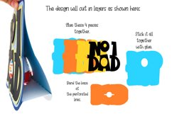 Number one Dad, Fathers day egg holder design Product Image 2