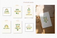 Avocados Quotes, Avocado Rainbow lettering, EPS, PNG Product Image 4
