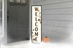 Halloween Vertical Sign Mockup Set, Tall Porch Sign Mock-up Product Image 3