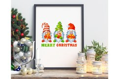 Gnomes Christmas sublimation designs Watercolor christmas Product Image 5