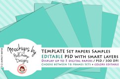 5 Panels Mockup for Digital Papers - M06 Product Image 1