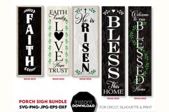 Porch sign SVG, Christian welcome sign SVG, Faith svg, Bless Product Image 1