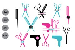 Hairdresser SVG, Hairstylist SVG, Hairdresser Monogram Svg. Product Image 1