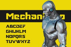 Mechanismo - a Techno Display Font Product Image 2