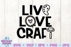 Crafting SVG | Live Love Craft SVG | Funny SVG Product Image 2