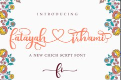 fatayah irhami - a chic script font Product Image 1