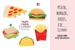 Food Clipart graphics, Hamburger clipart Product Image 1