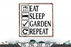 Eat Sleep Garden Repeat SVG Product Image 1