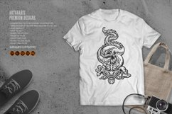 Silhouette Angry Oriental Dragon Culture SVG Illustrations Product Image 1