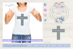 Death Where Is Your Sting Easter Cross SVG DXF FCM LL106 Product Image 1