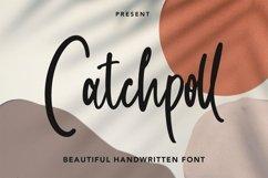 Web Font Catchpoll - Monoline Handwritten Font Product Image 1