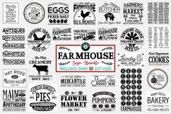 Vintage Farmhouse Sign SVG Bundle of 50 Designs Product Image 1