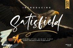 Satisfield - Signature Script Font Product Image 1