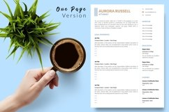 Legal Resume CV Template for Word & Pages Aurora Russell Product Image 2