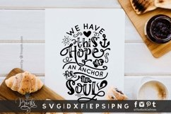 Hope Is Anchor For The Soul SVG | Bible Verse SVG | Easter Product Image 2