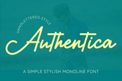 Authentica - A Simple Stylish Monoline Script Product Image 1