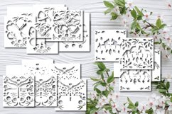 Bundle Papercut 3D Dragonfly Butterfly and Horses Product Image 6