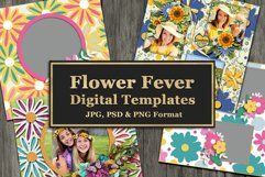 Flower Fever Digital Templates and Cuttables Product Image 1