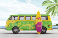 Van With Surfboard Branding Mockup Product Image 1