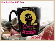 Black queens are born in December birthday t shirt design Product Image 3