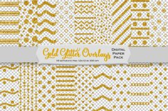 Gold Glitter Decorative Overlays Product Image 1