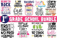 First Grade SVG, Bundle of 15 Designs, SVG DXF PNG Cut Files Product Image 1