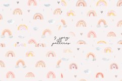 Watercolor Rainbow. Cute Patterns Product Image 2