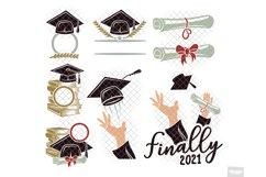 Graduation SVG Monogram Hat Cap in SVG, DXF, PNG, EPS, JPEG Product Image 3