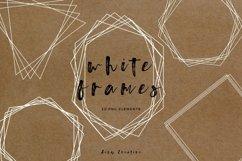 20 White Geometric Frames | Logo | Invitation | Christmas Product Image 1
