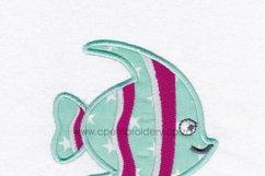 Striped Moorish Idol Pet Fish Applique Design Product Image 4