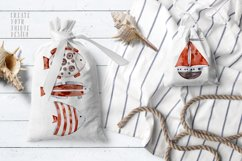 Cute Rabbit sailor. Kids watercolor sea clipart. Baby Bunny Product Image 8